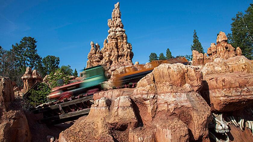 Big Thunder Mountain Railroad roller coaster at Disneyland