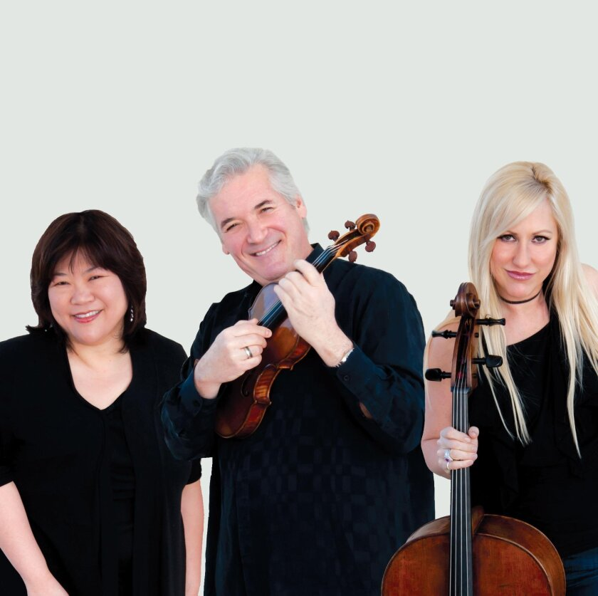 The Zukerman Trio — Angela Cheng, piano; Pinchas Zukerman, violin; Amanda Forsyth, cello — perform at SummerFest 8 p.m. Tuesday, Aug. 9 at MCASD Sherwood Auditorium