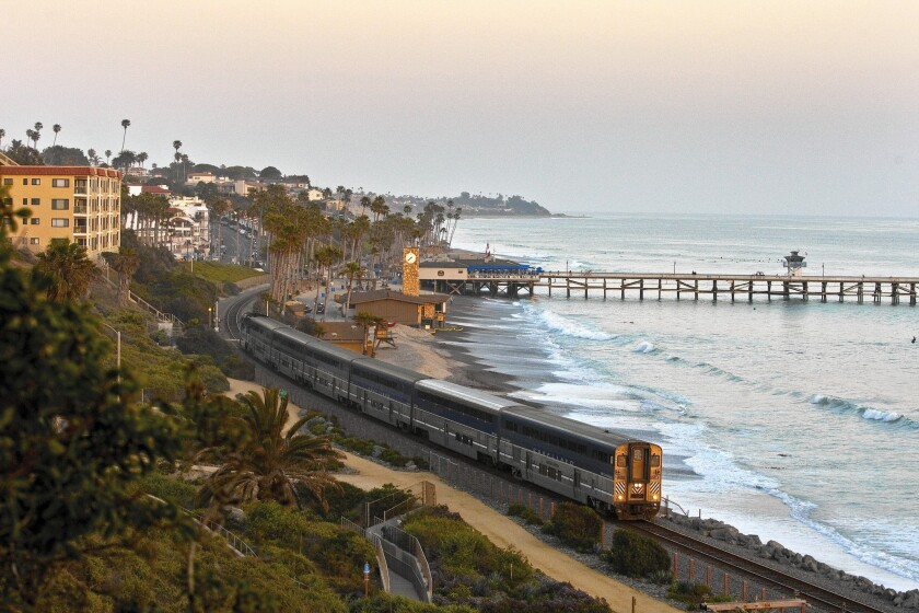 Amtrak's Pacific Surfliner is part of the rail agency's focus.