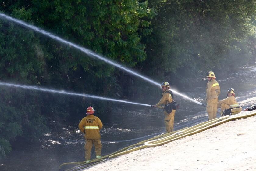 LA River fire