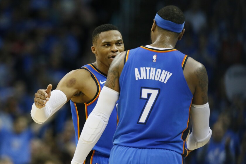 Russell Westbrook, Carmelo Anthony