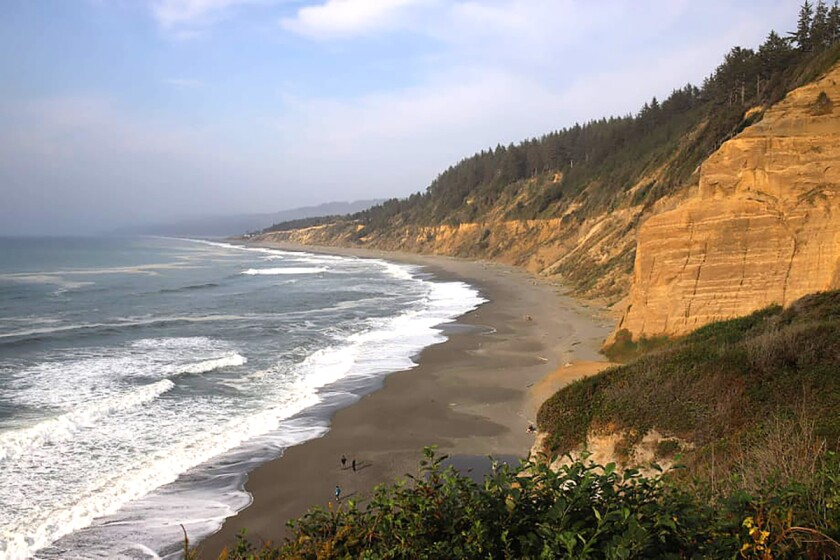 The coast of the California state park formerly known as Patrick's point, located in Humboldt County on the North Coast.