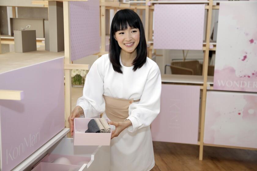 Japanese organizational expert Marie Kondo.
