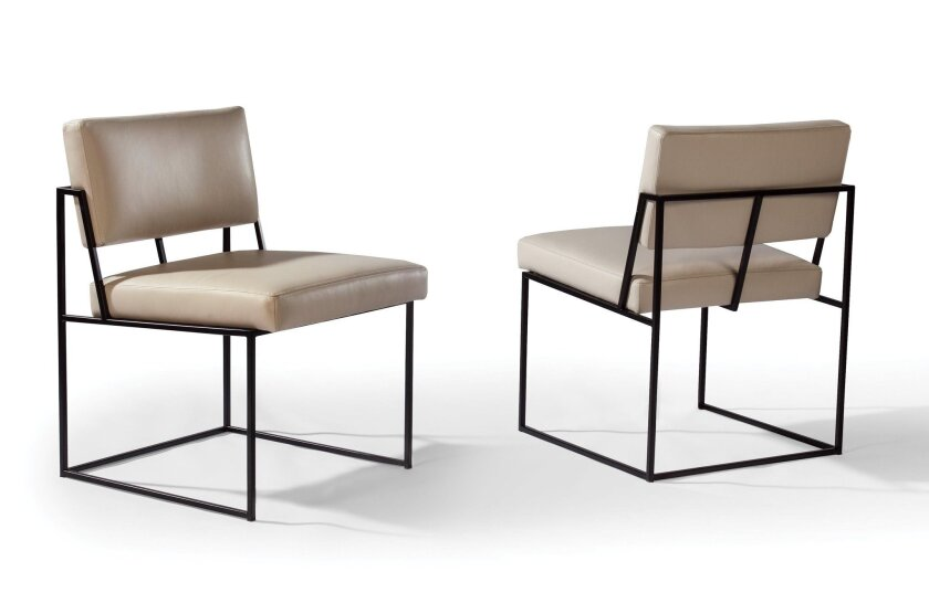 These dining chairs by Milo Baughman were created in 1968.