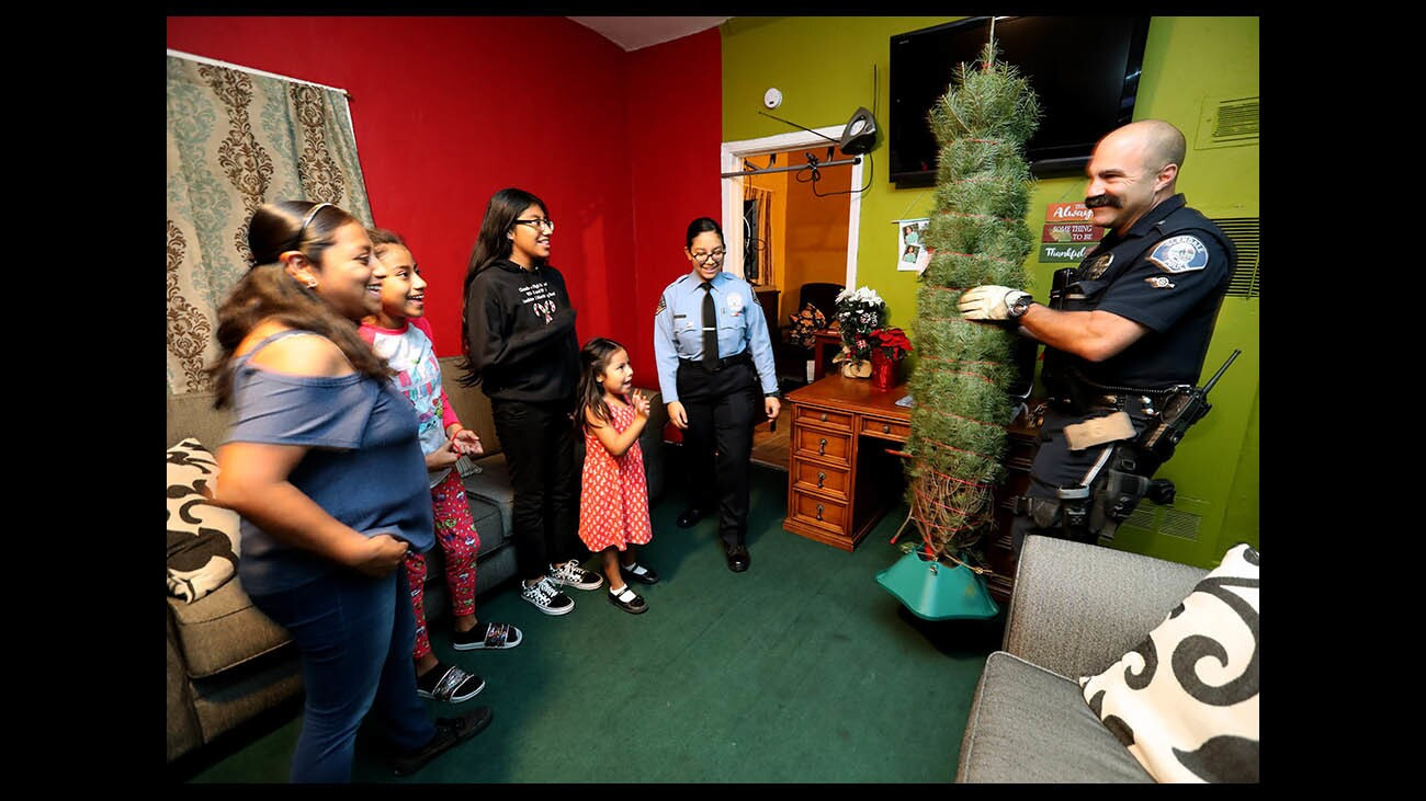 Photo Gallery: Glendale Police delivers Christmas trees to needy families