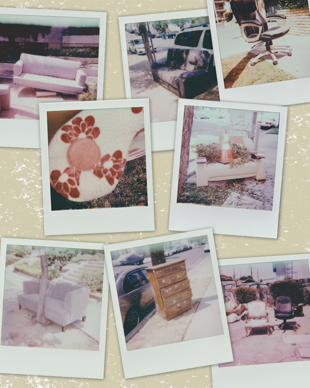 Photos of furniture found on the street