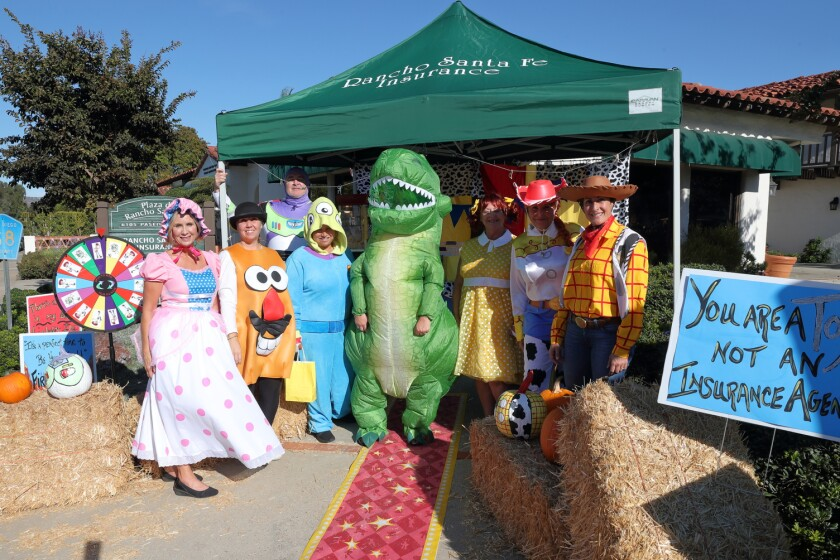 The RSF Insurance staff dressed as characters from Toy Story