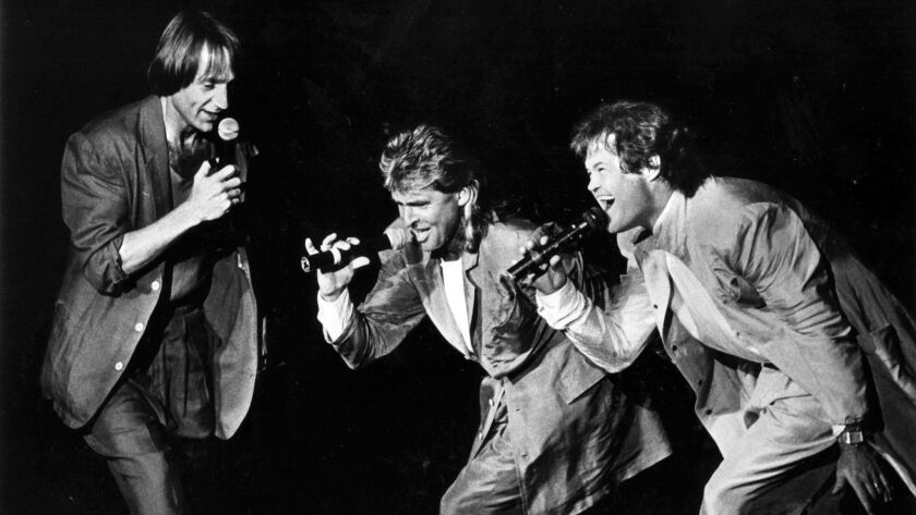 Sep. 4, 1986: Three members of the original group, The Monkees, perform at the Pacific Amphitheatre