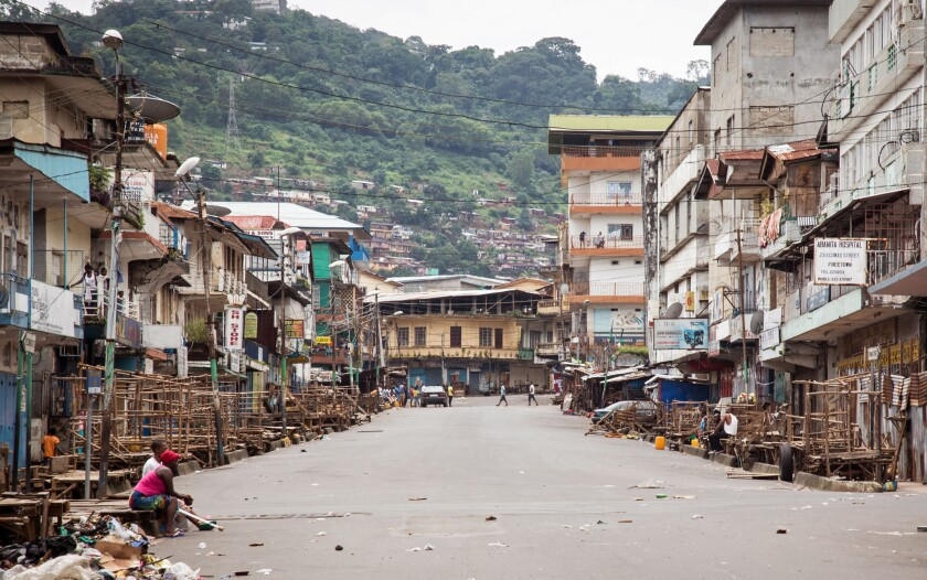 Few people were seen on the streets during a three-day curfew imposed in Sierra Leone in a bid to halt the spread of Ebola.