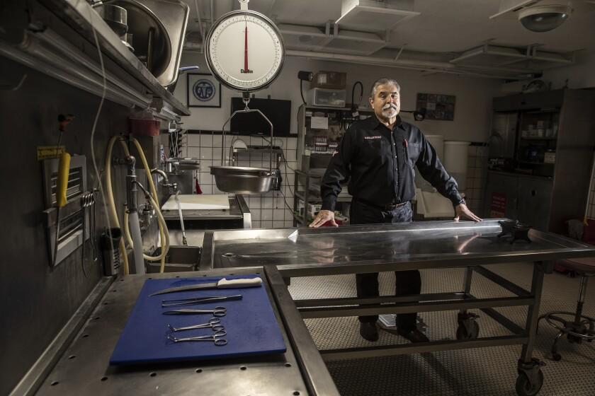 Vidal Herrera inside his lab