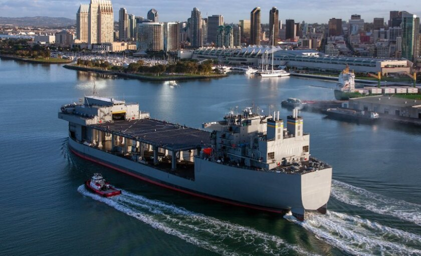 NASSCO has been awarded $106 million for the initial stages of designing and building a floating staging base that will be very similar to the USNS Lewis B. Puller.