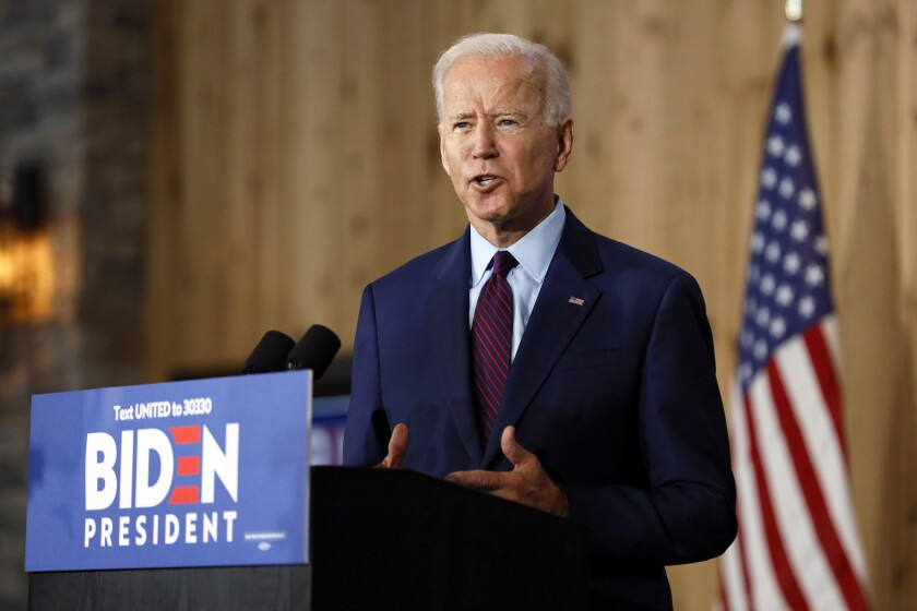 """Democratic presidential candidate Joe Biden, speaking in Iowa, said: """"Our president has more in common with George Wallace than George Washington."""""""