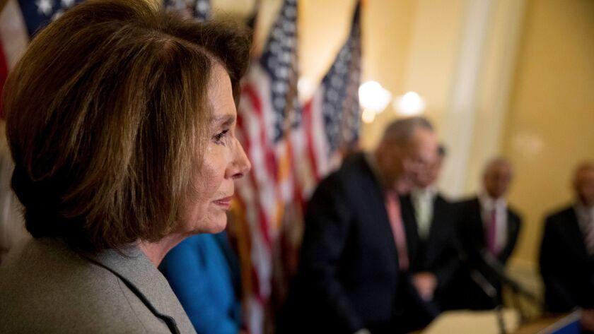 House Minority Leader Nancy Pelosi of Calif., on Capitol Hill on Nov. 1.