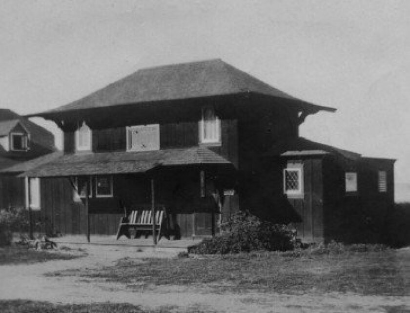 Windemere cottage circa 1910 when it was located on Prospect Street.  Courtesy