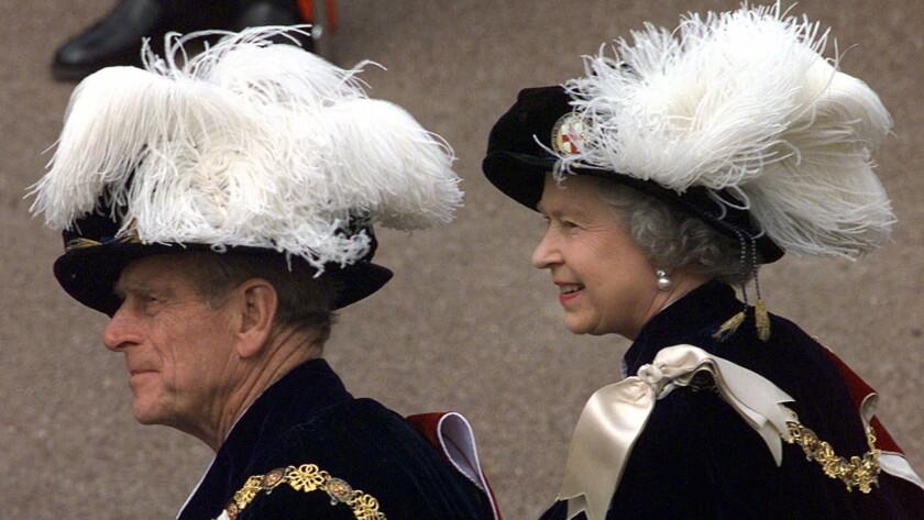 Queen Elizabeth II and Prince Phillip in 1999.