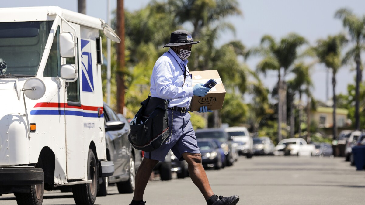 U S Postal Service Faces Extra Coronavirus Financial Woes Los