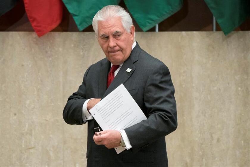 El secretario de Estado estaounidense, Rex Tillerson. EFE/ARCHIVO