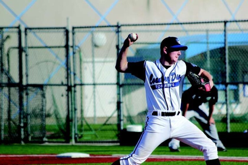 La Jolla Country Day pitcher Ian Lutz in action last week against Helix. Phil Dailey photo