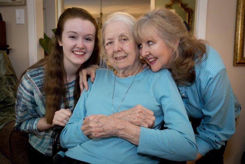 An Alzheimer's sufferer wtih her family
