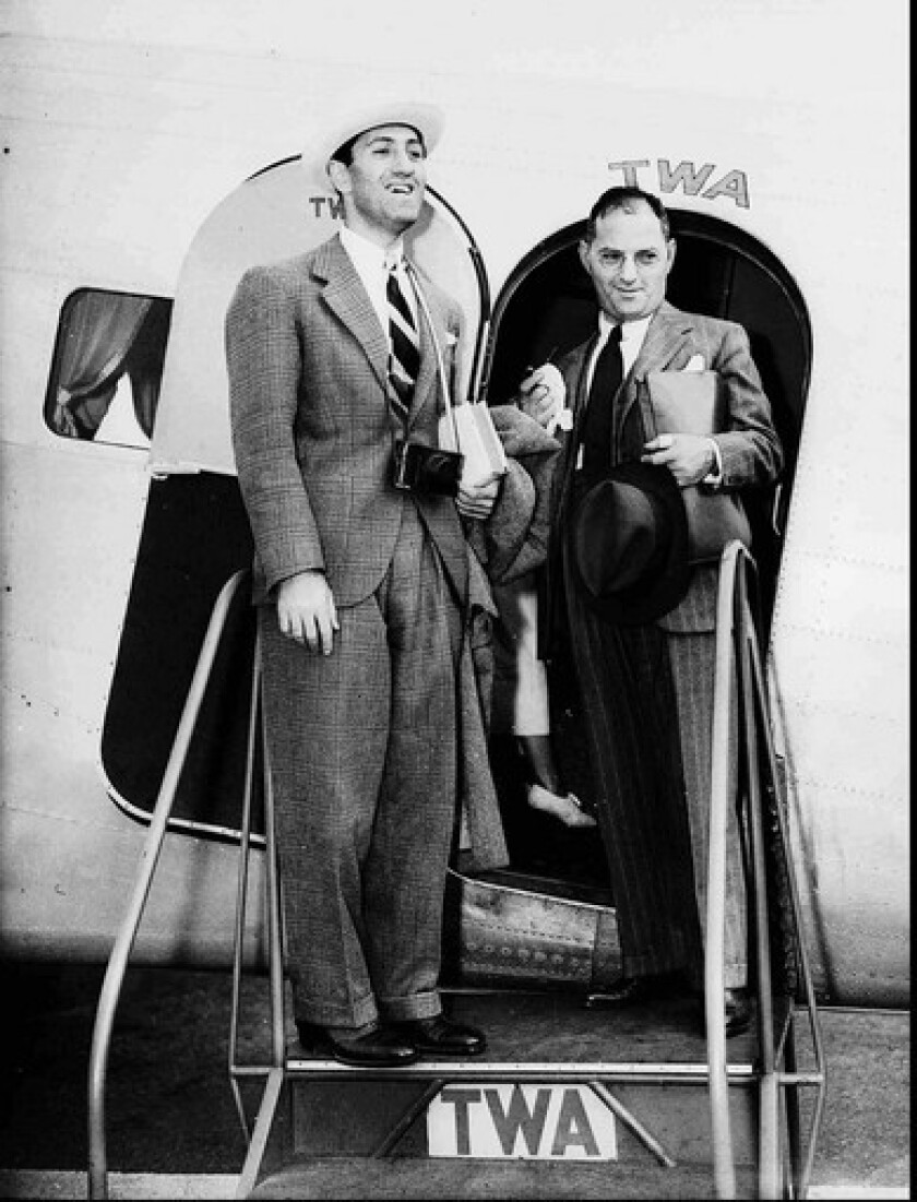 George, left, and Ira Gershwin in August 1936, less than a year before George died. Ira lived to 1983.