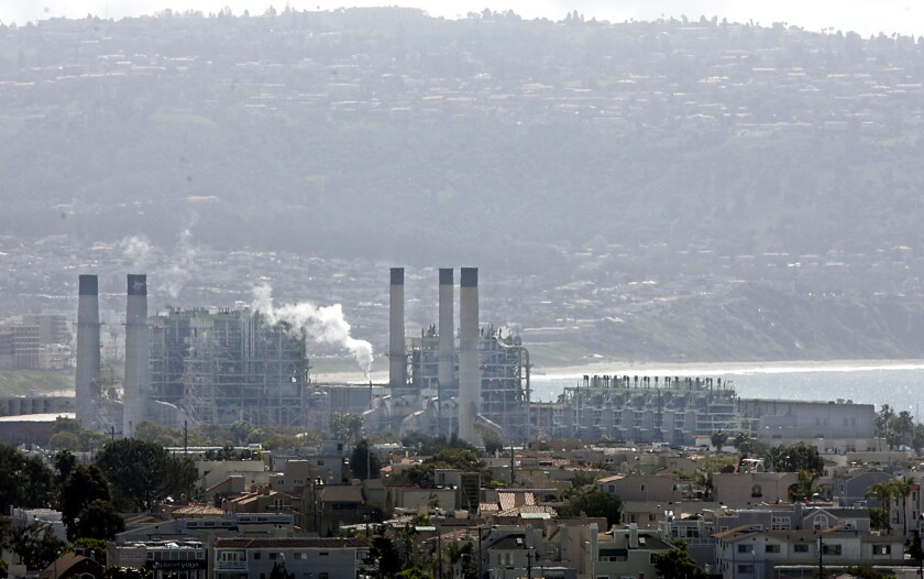 The gas-fired AES power plant in Redondo Beach