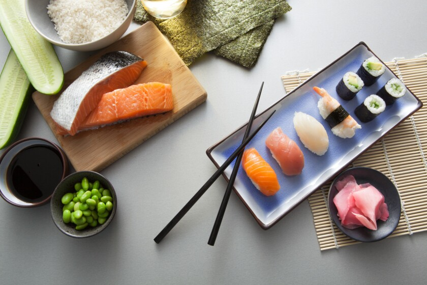 Try adding fish and sushi into your diet, but be careful not to overdo it.
