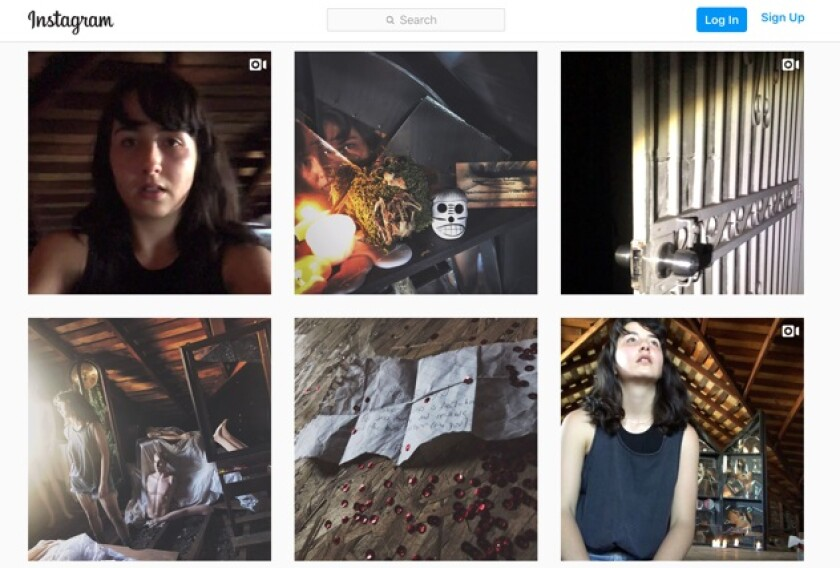 """Arcana,"" a narrative game that stars Nerea Duhart, has been unfolding on Instagram."