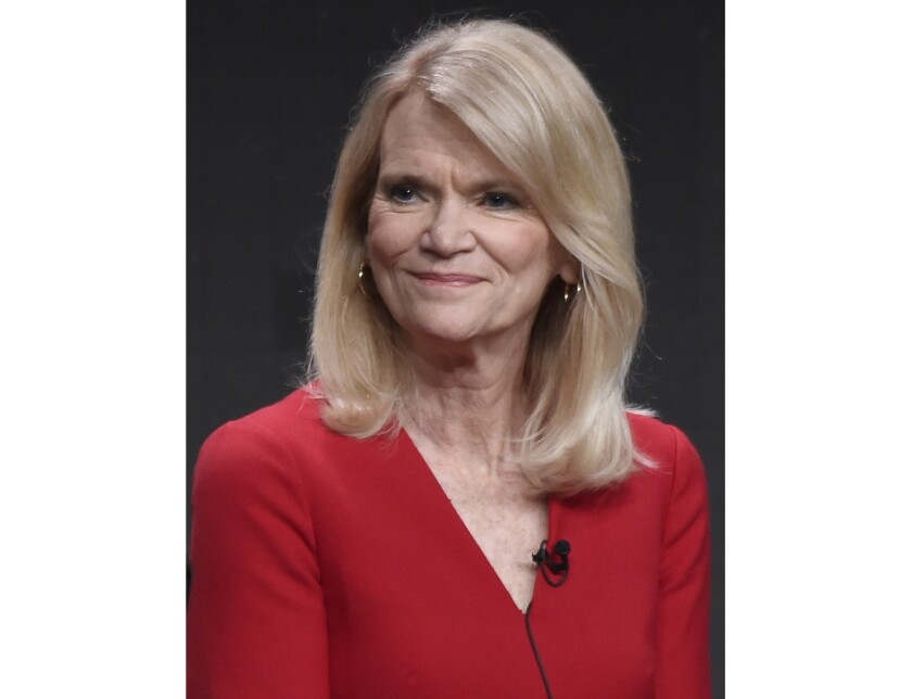 """FILE - Journalist Martha Raddatz participates in """"The Long Road Home"""" panel during the National Geographic Television Critics Association Summer Press Tour in Beverly Hills, Calif. on July 25, 2017. When the coronavirus shutdown began, Raddatz figured her plan for a cross-country road trip to meet voters would be shelved, too. But this week Raddatz nears the end of a 6,000-mile journey. (Photo by Chris Pizzello/Invision/AP, File)"""