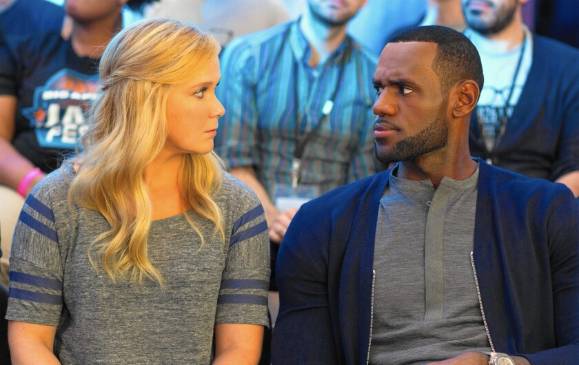 """Amy Schumer and LeBron James in """"Trainwreck."""""""