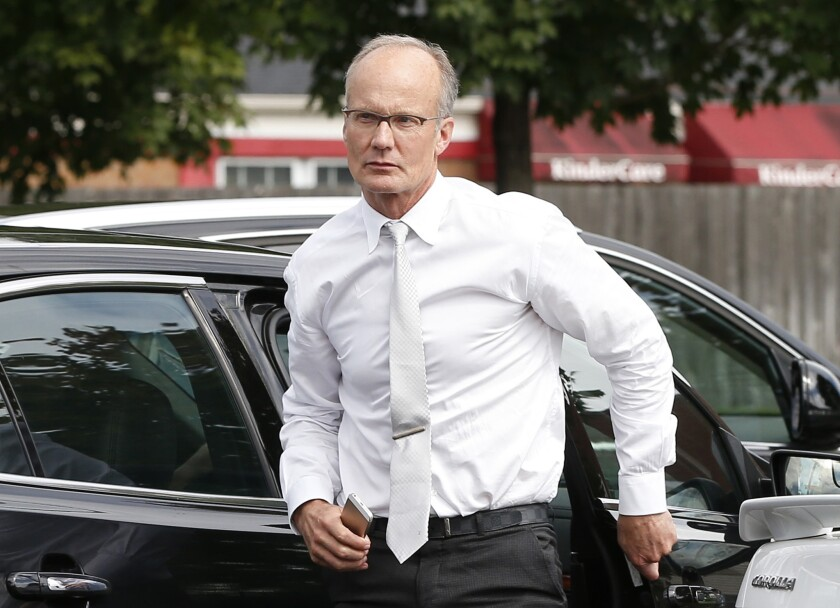 Dentist Walter Palmer, arrives back at his office following a lunch break in Bloomington, Minn., on Sept. 8, 2015.