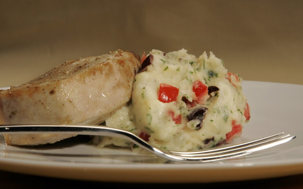 Swordfish with Provencal mashed potatoes