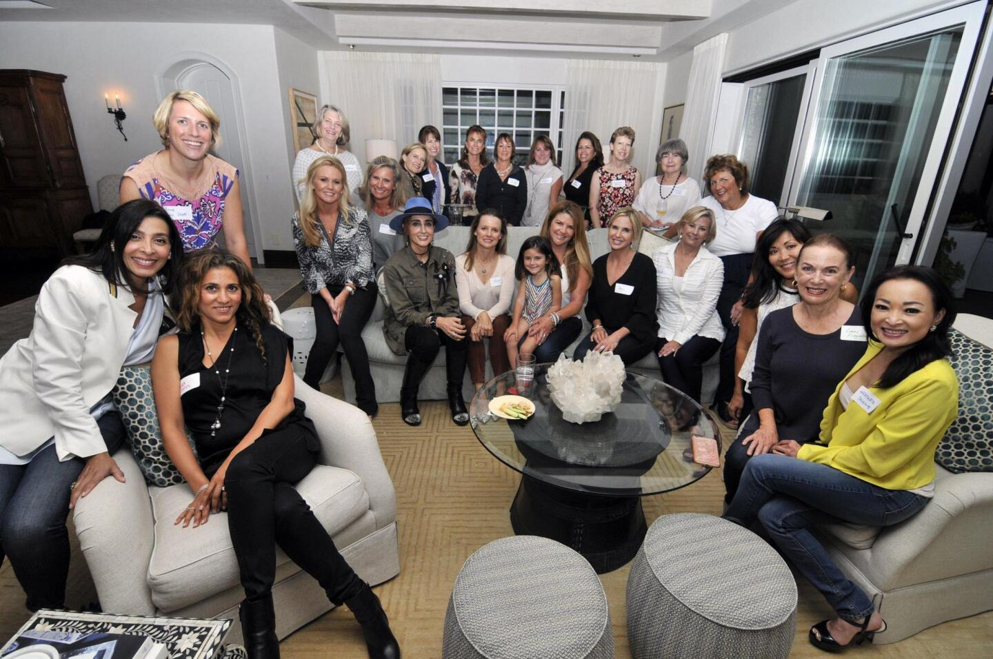 Bill's Angels are riding on behalf of Angelina Repetti (center), sitting on mom Amy's lap
