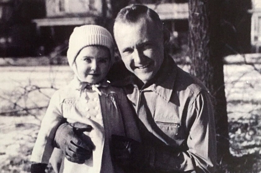 Capt. Baxter and his daughter, Brigette Baxter Ortiz, before his ill-fated mission in North Korea. B
