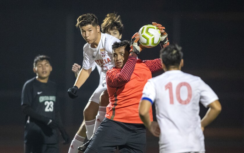 Costa Mesa boys' soccer ties Estancia in first Battle for the Bell meeting