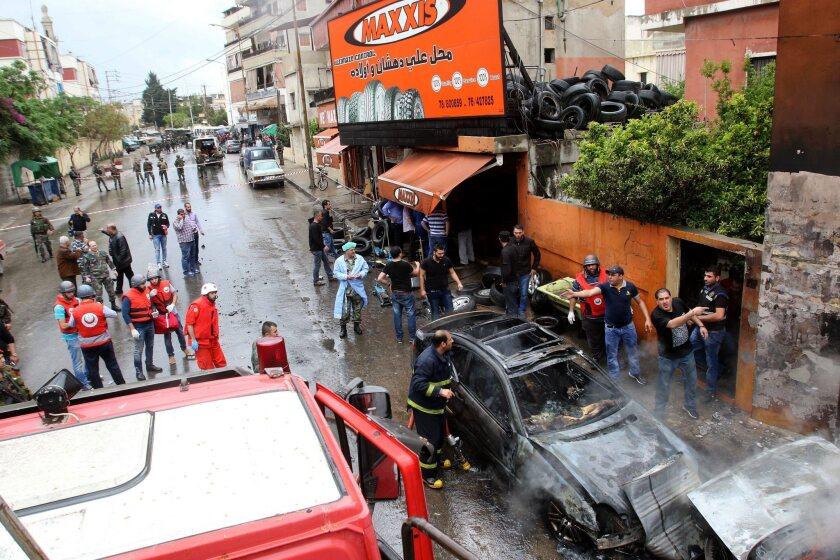 Car bombing in Sidon, Lebanon