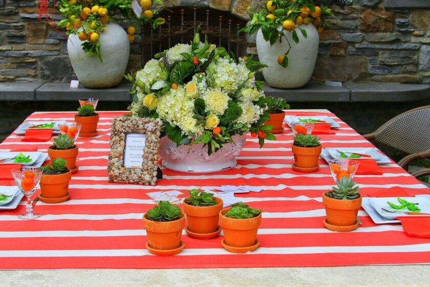 A tablescape from the 2015 Secret Garden Tour of La Jolla.