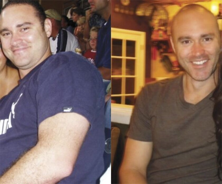 Ernie Macmanus: Before and after his personalized fitness regime at Revolution Fitness in La Jolla (Courtesy Photos)