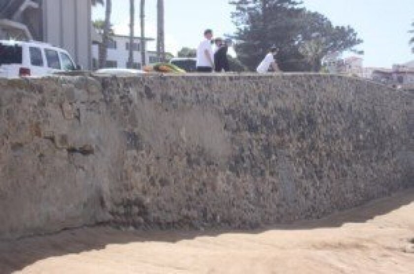 Restoration of the crumbling People's Wall along Whale View Point is included in the project plans.