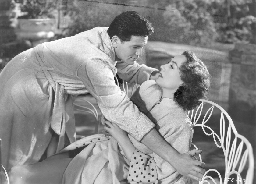 "Joan Crawford and John Garfield in ""Humoresque."""