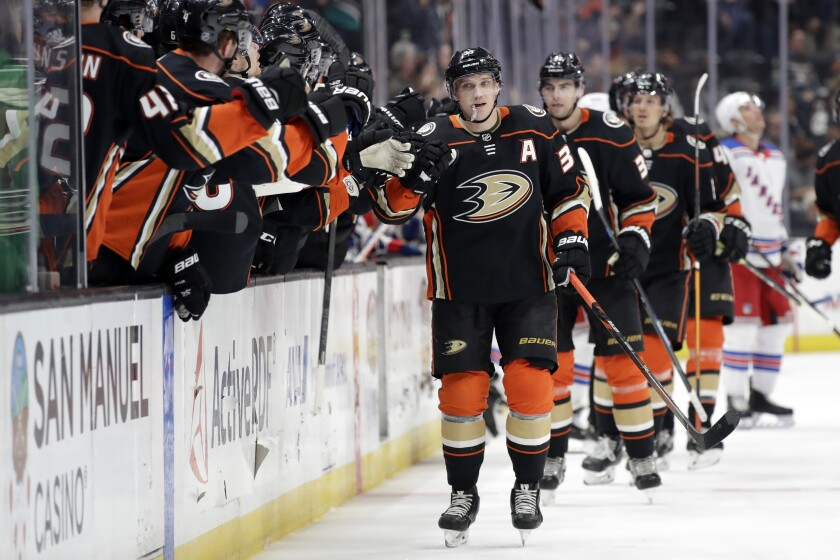 Rangers Ducks Hockey