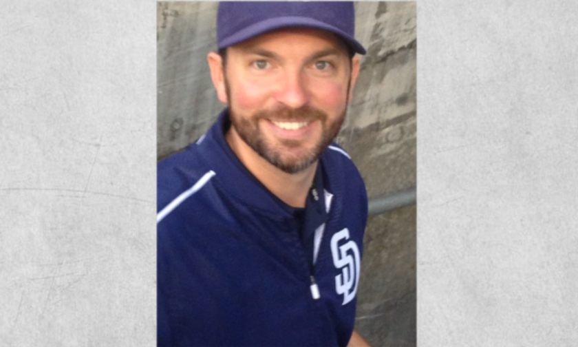 Padres clubhouse assistant James Bigler.