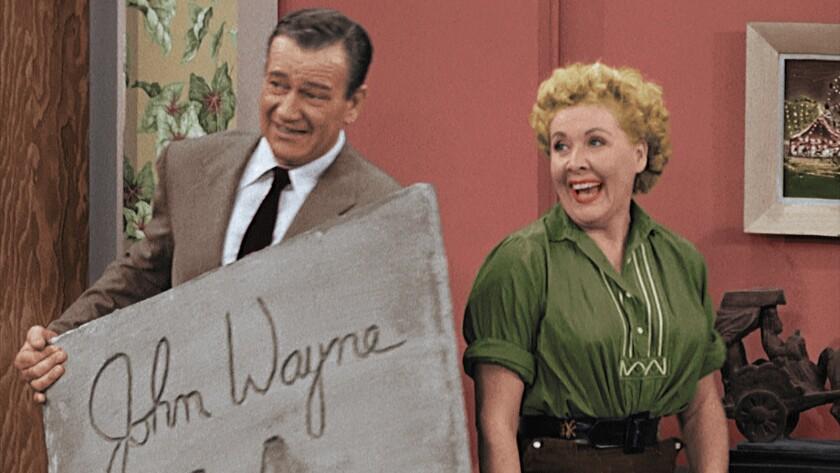 John Wayne and Vivian Vance