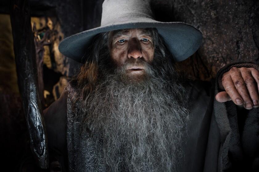 "Ian McKellen in ""The Hobbit: The Desolation of Smaug."""