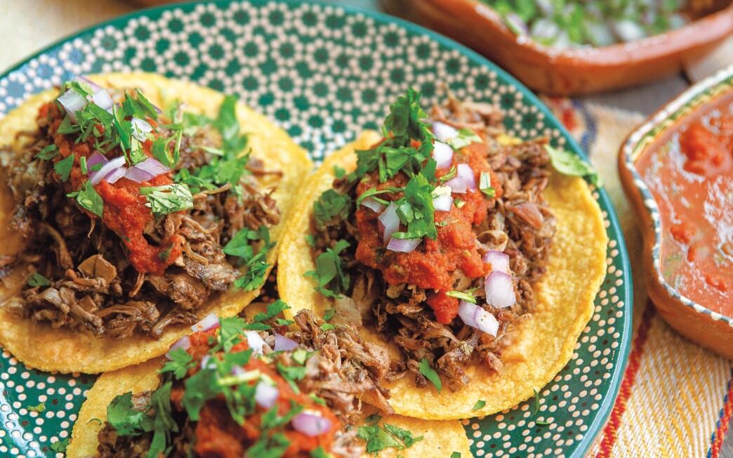 Jocelyn Ramirez's Tacos de Yaca Carnitas.