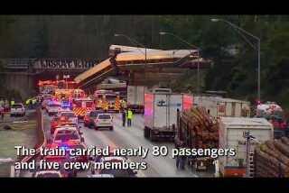 Amtrak train derails over I-5 in Washington state
