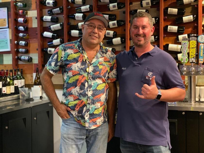 Bill Abii, left, and John Adams of Thai One On restaurant in Carlsbad.