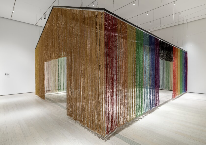 """united nations: american code"" (1995-2019) by gu wenda at the Los Angeles County Museum of Art."