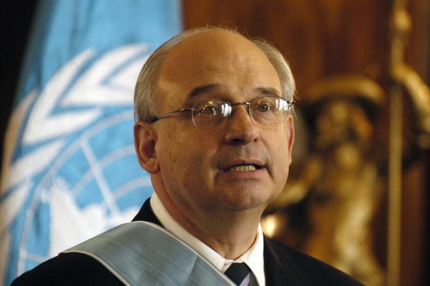 El diplomático uruguayo Juan Pablo Corlazzoli, jefe de la misión, llegará este domingo a San Salvador. EFE/Archivo