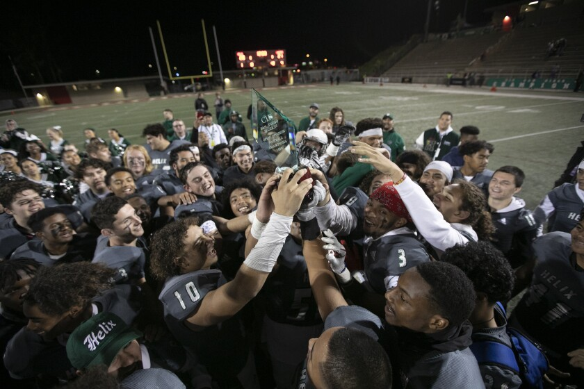 Helix hoisted the trophy as the San Diego Section Open Division champion.