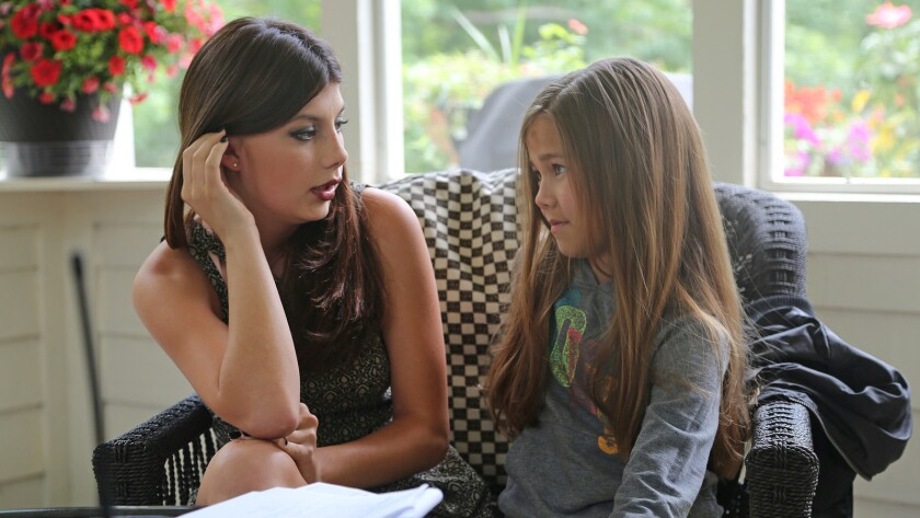 "Cassidy Mack and Brooklyn Rae Silzer in the film ""The Storyteller."""